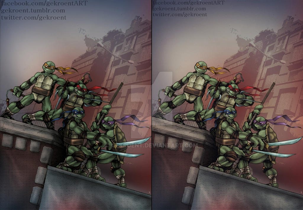 TMNT No1 cover recreation