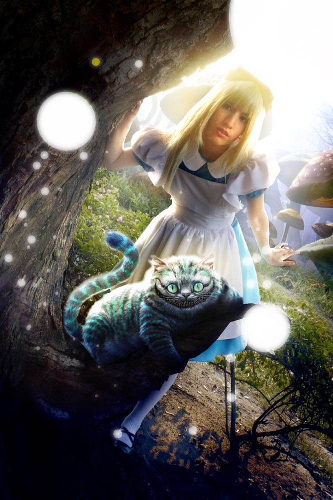 Amita in Wonderland by shinigamimeroko