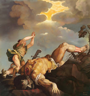 After Titian : David and Goliath