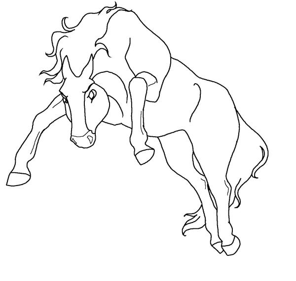 Free Mad Horse Lineart By Kokamo77 On Deviantart
