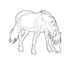 Horsey lineart 4 ps or gimp by kokamo77