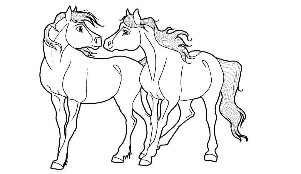 Line Drawing Couple : Draft horse coloring pages