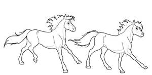 Follow horse lineart PNG by kokamo77