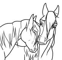 Sad Horse Couple lineart by kokamo77