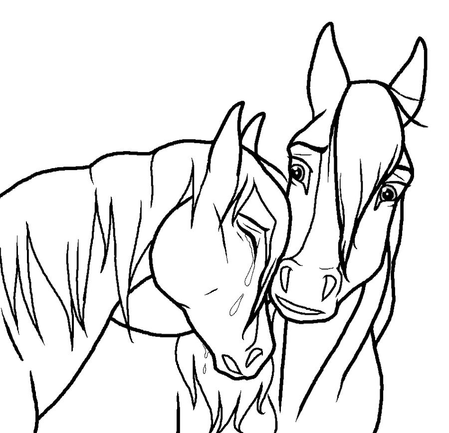 Line Drawing Couple : Sad horse couple lineart by kokamo on deviantart