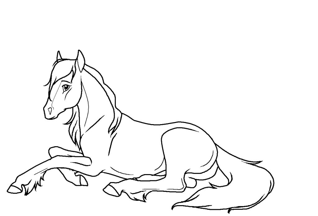 Horse Lying Down Drawing Horse Laying Down Drawing