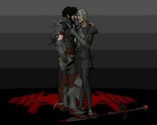 Hawke and Fenris 2 by deathoflight
