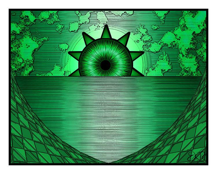 Green Morning by deathoflight