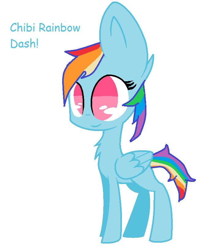 Group Of Chibi Pony Base By