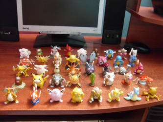 My Pokemon TOMY Monster Collection (one year ago).