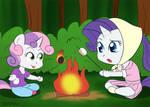 Sisters Roasting Marshmallows - 30MC