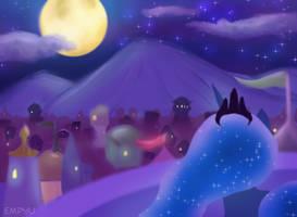 Canterlot at Night - 45MC by Empyu