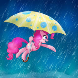 Pinkie in the Rain