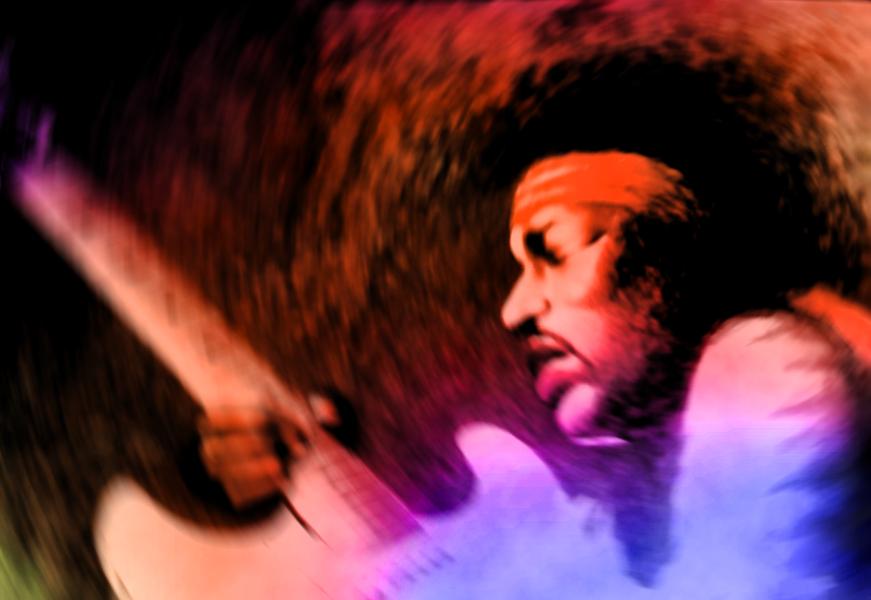 Jimi Hendrix by rageofreason