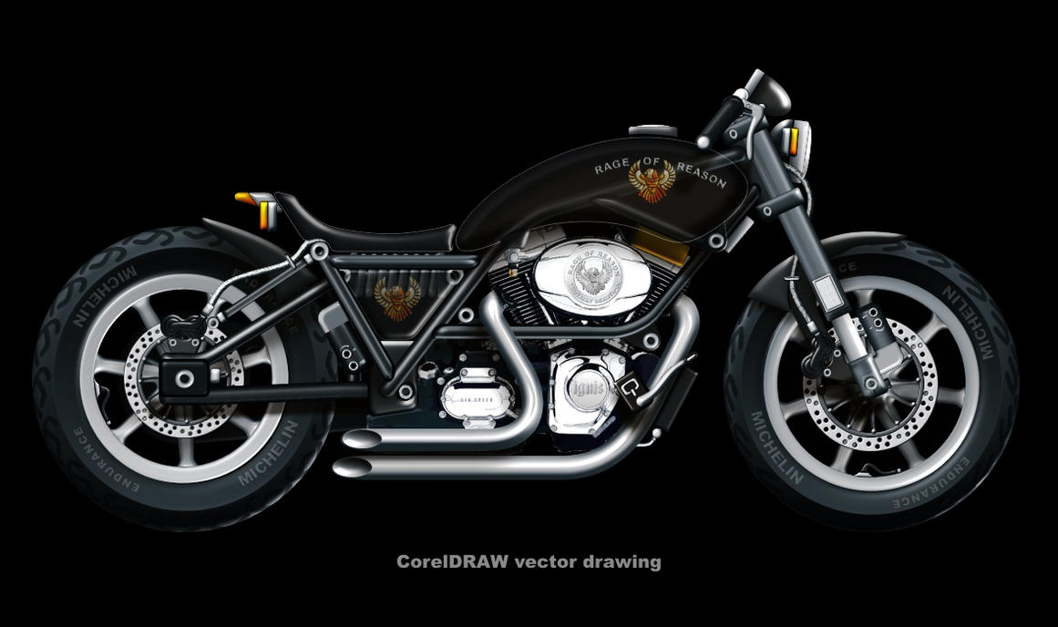 Harley-Davidson vector drawing by rageofreason