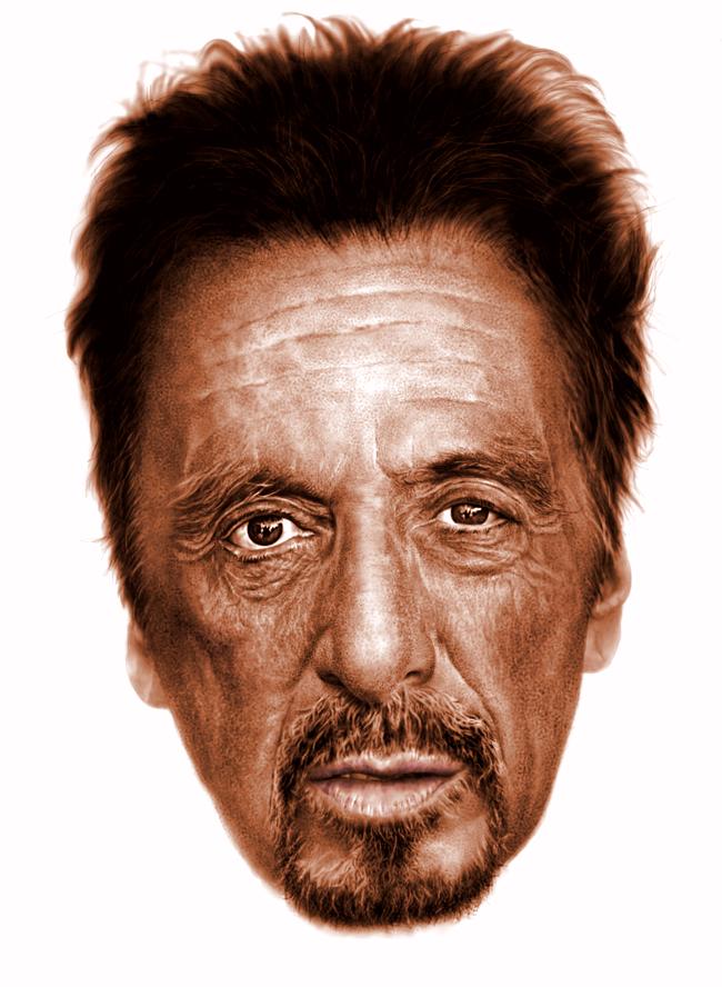 Al Pacino digital portrait by rageofreason