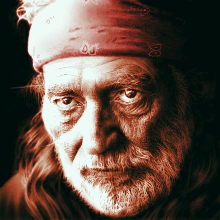 Willie Nelson - digital portrait by rageofreason