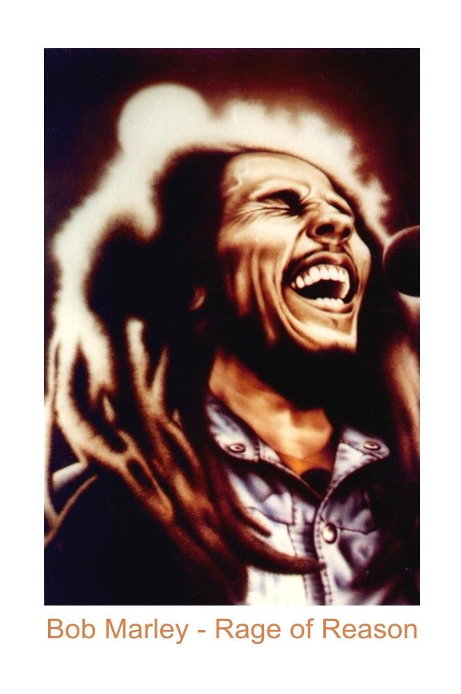 Airbrush Bob Marley by rageofreason