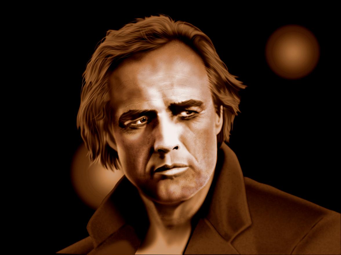 Marlon Brando vector portrait by rageofreason