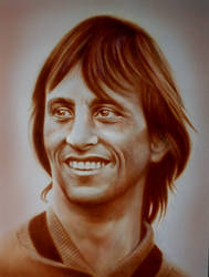 Johan Cruijff airbrush edited in Affinity Photo