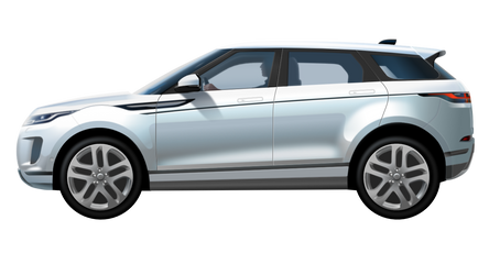Range Rover Evoque - vector drawing