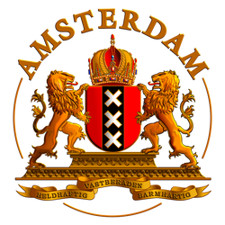 Crest of Amsterdam - T-shirt design