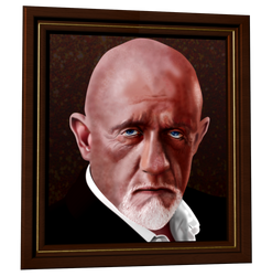 Mike Ehrmantraut - Breaking Bad - vector portrait