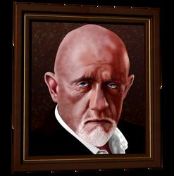 Mike Ehrmantraut - Breaking Bad - vector portrait