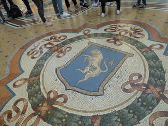 Bull mosaic, Galleria, Milan. by photodash