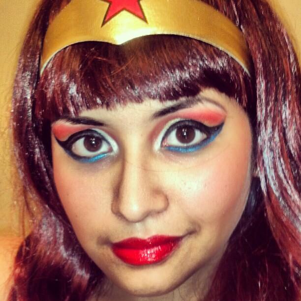 Wonder Woman Make Up - Halloween Costume By KoalaYummy53 On DeviantArt  sc 1 st  zonawwe.com .Party City Makeup Tutorial .Halloween Makeup On Black ... & 17 Best Ideas About Wonder Woman Makeup On Pinterest | Superhero ...