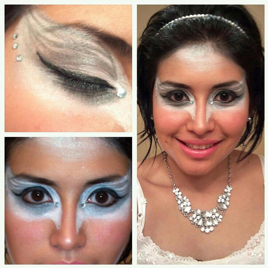 White Swan Halloween Makeup by koalaYummy53 on DeviantArt - White Halloween Makeup