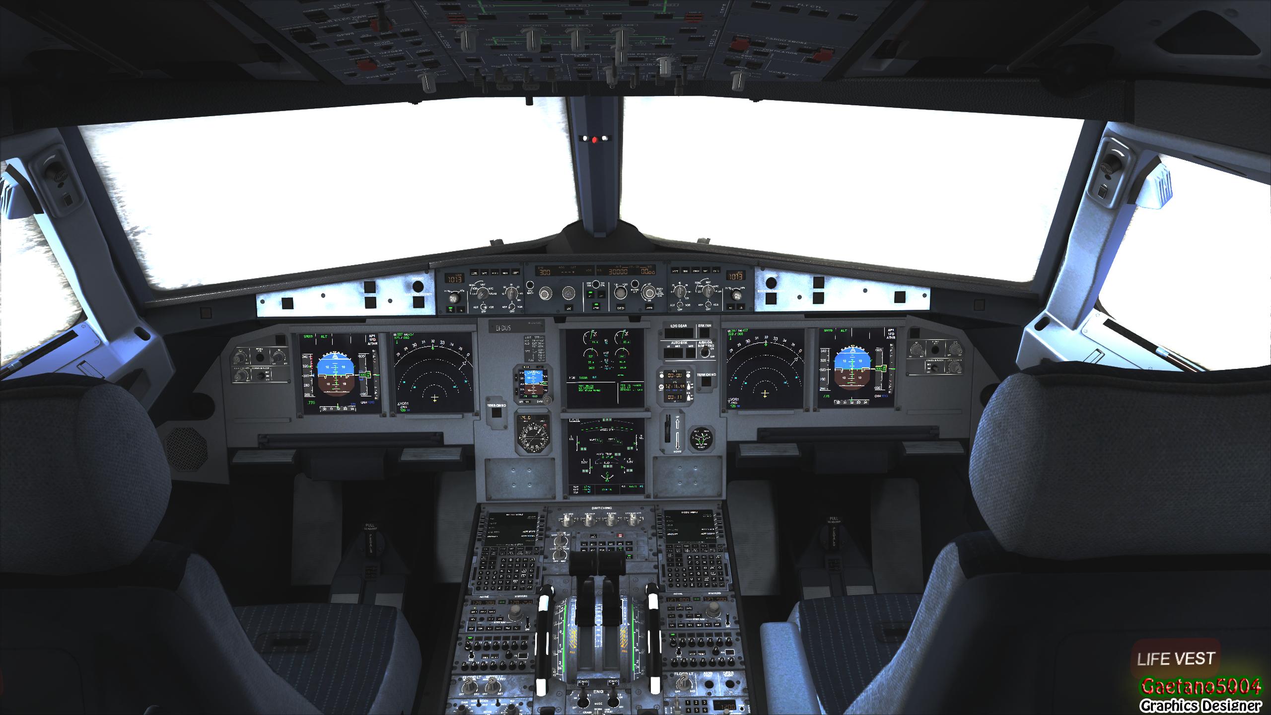 Airbus A320 Cockpit by Gaetano5004