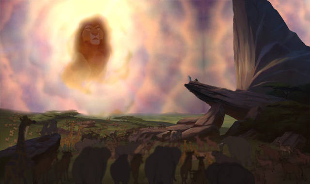 Lion King Pride Rock With Mufasa S Ghost By Suniarts On Deviantart