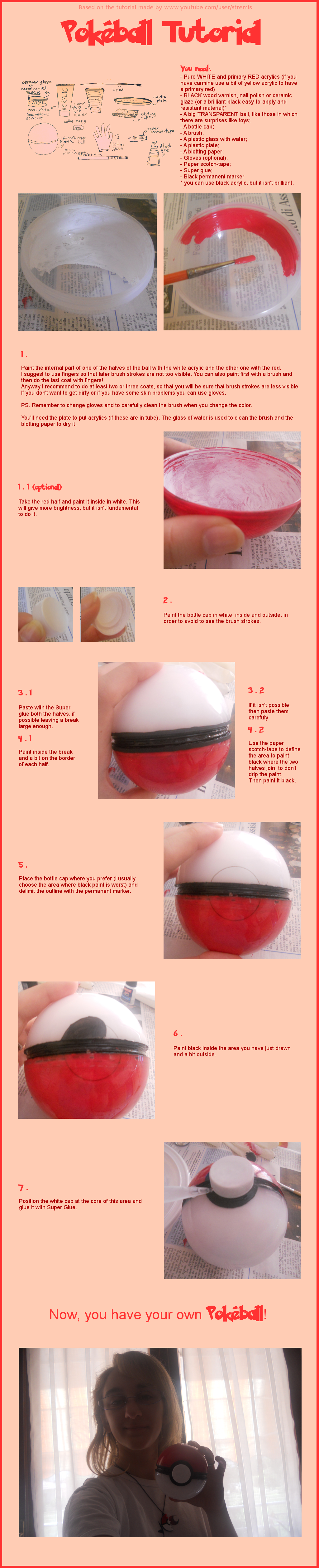 Pokeball tutorial by InvisibleJune