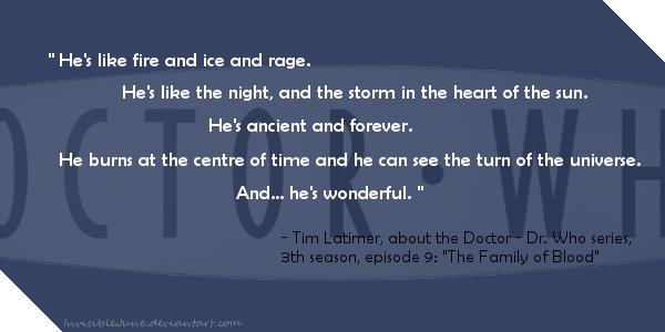 Quote #2 - The Doctor by InvisibleJune