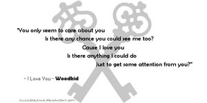 Quote #7 - I love you (Woodkid) by InvisibleJune