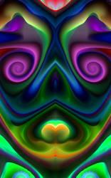 Abstract Skull by JustACrashedAlien