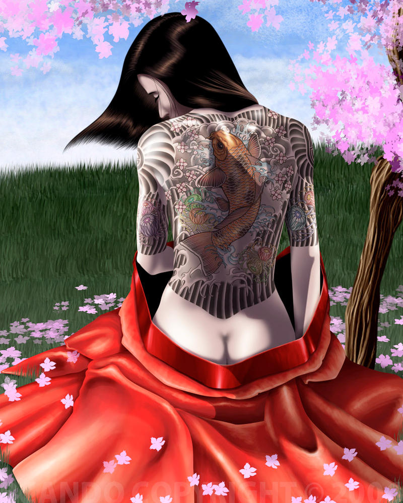 Cherry Blossom Tattoo Girl by