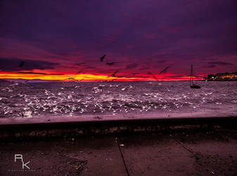 Gulf-sunset by sleepingawakerza