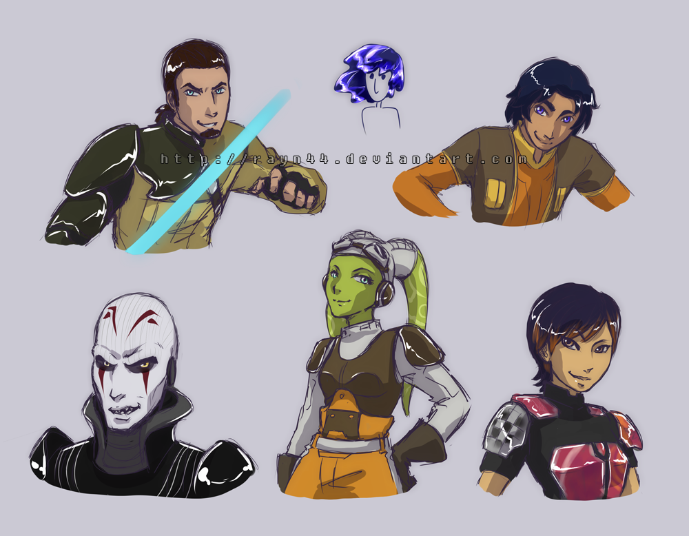 Star Wars Rebels sketches by rayn44