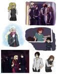 Hogwarts AU sketchdump 2