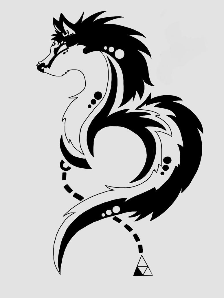 Twilight Wolf Decal by GrayGreen