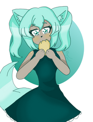 Mint eating pancakes by NeveCollins