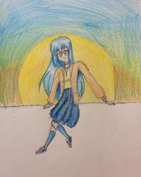 A girl siting by NeveCollins