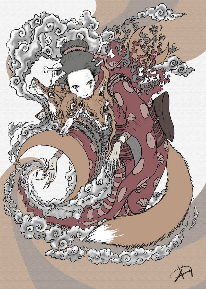 Traditional Kitsune Tattoo: Kitsune By Koggg On DeviantArt