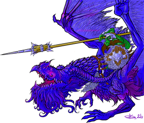 Ultramarine dragon by Koggg