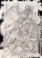 Horseman of the apocalypse by Koggg