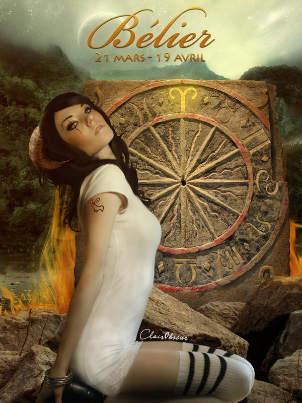 Zodiac : Aries by ClairObscurArt