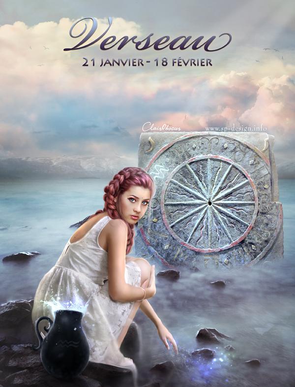 Zodiac : Aquarius by clair0bscur