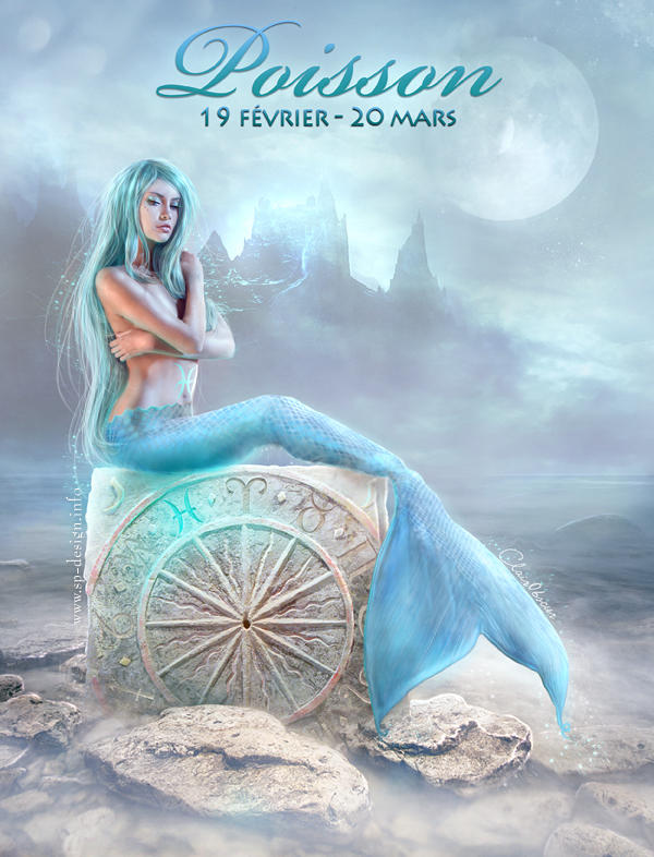 Zodiac : Pisces by ClairObscurArt